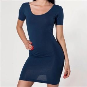 AA Cotten Spandex Jersey U-Back Dress, M